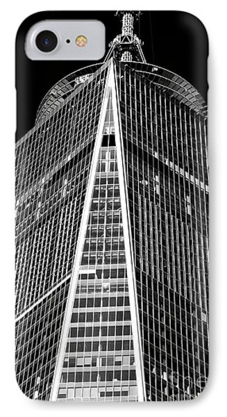 IPhone Case featuring the photograph Freedom Tower Windows by John Rizzuto
