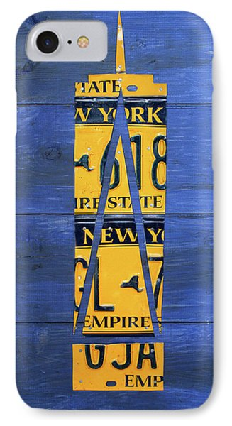Freedom Tower World Trade Center New York City Skyscraper License Plate Art IPhone Case