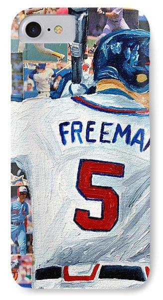 Freeman At Bat Phone Case by Michael Lee