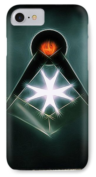 Freemason Symbol By Raphael Terra IPhone Case by Raphael Terra