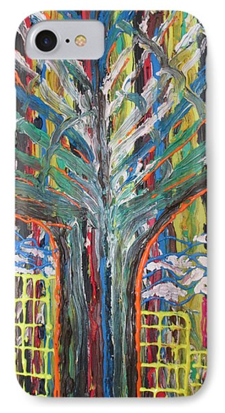 Freetown Cotton Tree - Abstract Impression IPhone Case by Mudiama Kammoh