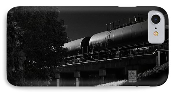 Freight Over Bike Path IPhone Case