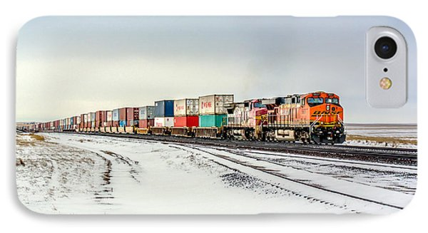 Train iPhone 7 Case - Freight Train by Todd Klassy