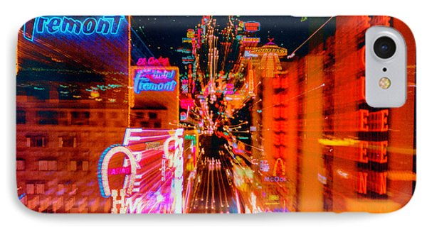 Fremont Street For One From The Heart IPhone Case by Richard Lund