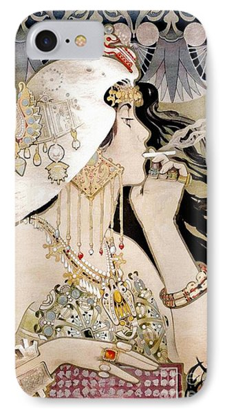 French Art Nouveau Smoking Woman Collage IPhone Case