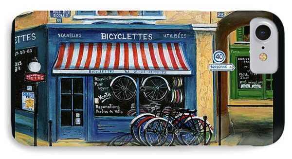 French Bicycle Shop IPhone Case