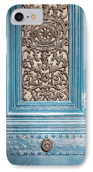 IPhone Case featuring the photograph French Blue - Paris Door by Melanie Alexandra Price