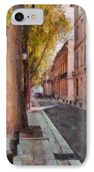 IPhone Case featuring the photograph French Boulevard by Scott Carruthers