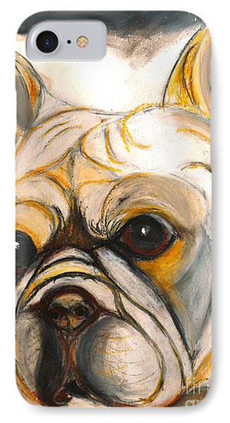 French Bulldog Drawing IPhone Case by Ania M Milo