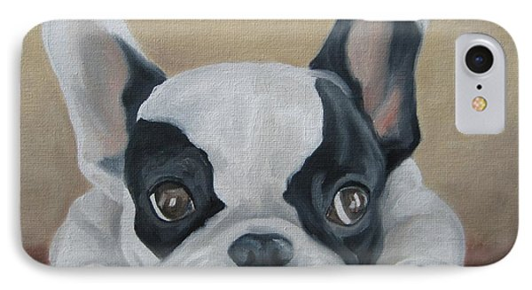 IPhone Case featuring the painting French Bulldog by Jindra Noewi