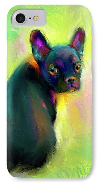 French Bulldog Painting 4 IPhone Case by Svetlana Novikova