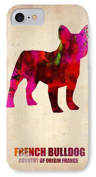 French Bulldog Poster IPhone 7 Case by Naxart Studio