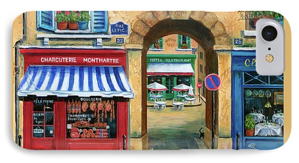 French Butcher Shop Phone Case by Marilyn Dunlap