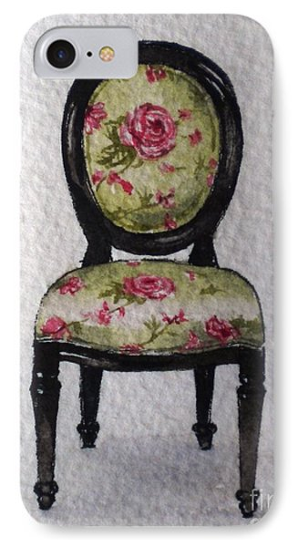 IPhone Case featuring the painting French Chair by Sandra Phryce-Jones