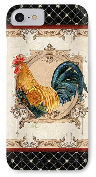 French Country Roosters Quartet 4 IPhone Case by Audrey Jeanne Roberts