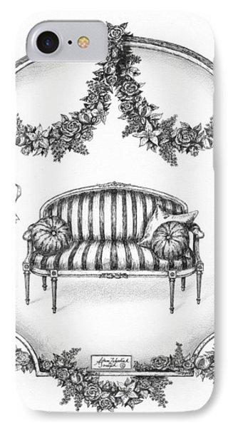 French Country Sofa Phone Case by Adam Zebediah Joseph