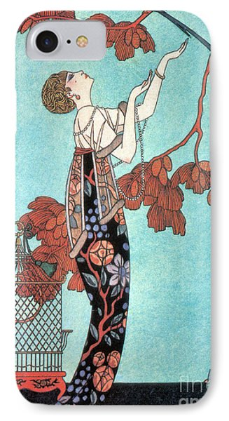 French Fashion, George Barbier, 1914 IPhone Case by Science Source