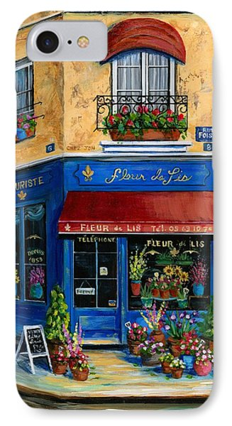 French Flower Shop Phone Case by Marilyn Dunlap