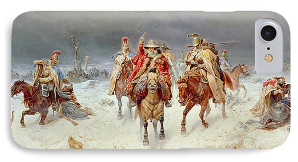 French Forces Crossing The River Berezina In November 1812 Phone Case by Bogdan Willewalde