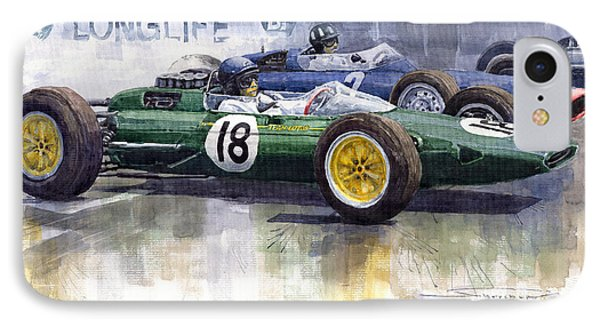 French Gp 1963 Start Lotus Vs Brm IPhone Case by Yuriy  Shevchuk