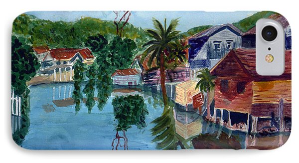 French Harbor Isla De Roatan IPhone Case by Donna Walsh