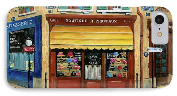 French Hats And Purses Boutique Phone Case by Marilyn Dunlap