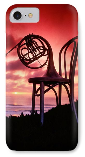 French Horn On Chair Phone Case by Garry Gay