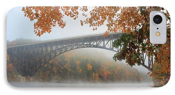 French King Bridge Autumn Fog IPhone Case by John Burk