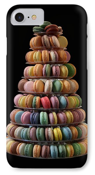 French Macarons IPhone Case by Rona Black
