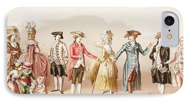 French Men S Fashions During The Reign IPhone Case by Vintage Design Pics