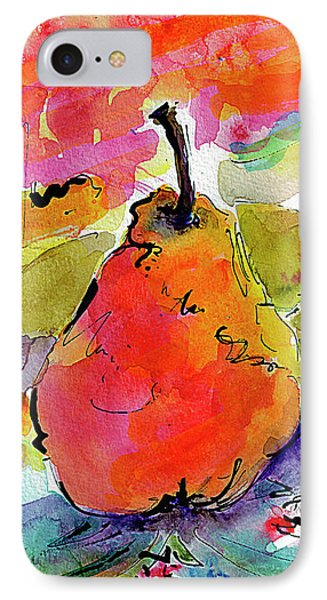 French Pears Watercolor And Ink Whimsical Art IPhone Case