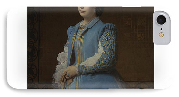 French Portrait Of A Lady In Blue IPhone Case