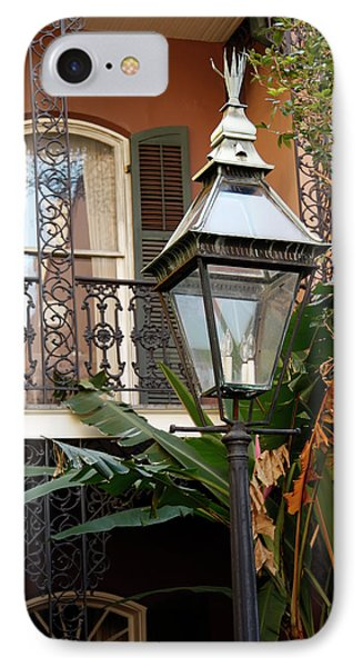 IPhone Case featuring the photograph French Quarter Courtyard by KG Thienemann