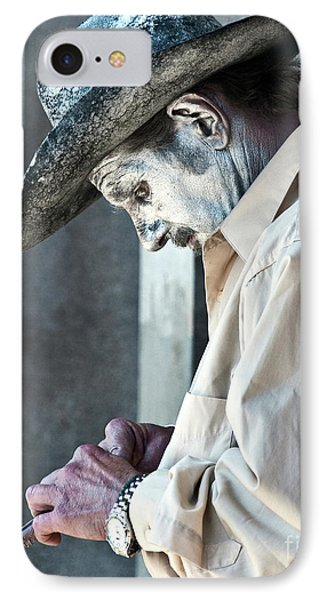 French Quarter Cowboy Mime Phone Case by Kathleen K Parker