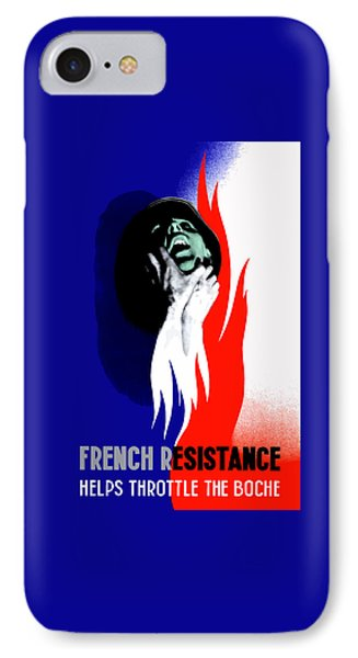 French Resistance Helps Throttle The Boche Phone Case by War Is Hell Store
