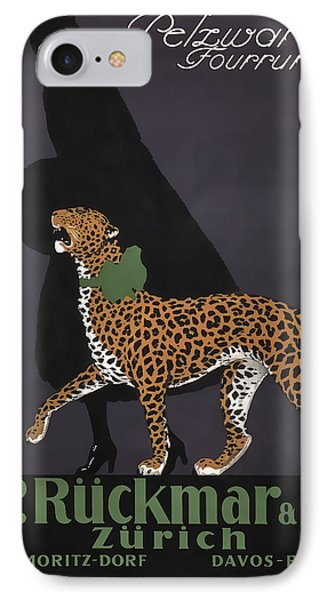 French Swiss Vintage Ad C. 1920 IPhone Case by Daniel Hagerman