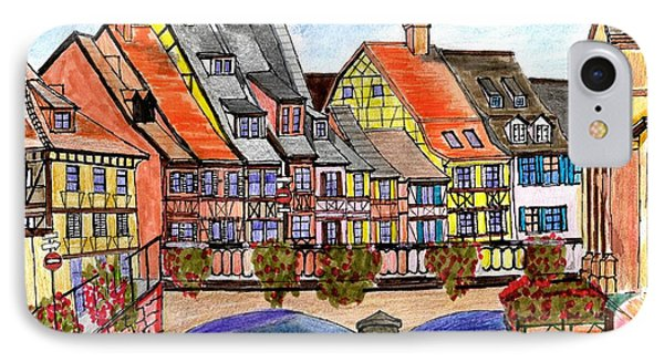 French Village On The River IPhone Case by Paul Meinerth