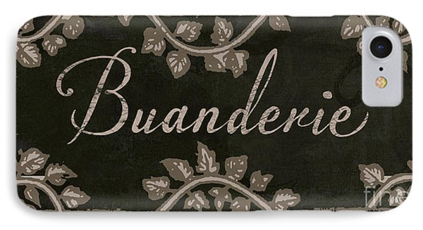 French Vintage Laundry Sign IPhone Case by Mindy Sommers