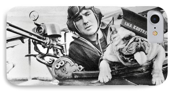 French World War Two Postcard Celebrating The British Bulldog As A Mascot For The Royal Air Force IPhone Case by French School