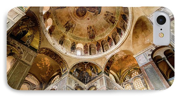 Frescoes And Mosaics Of The Church Of Holy Luke At Monastery Of Hosios Loukas In Greece IPhone Case by Global Light Photography - Nicole Leffer