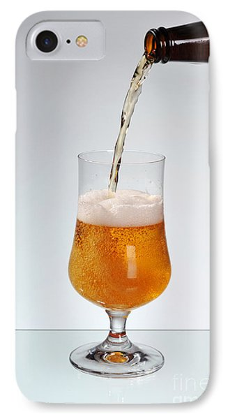 Fresh Beer Filling Glass On Stem  IPhone Case by Arletta Cwalina