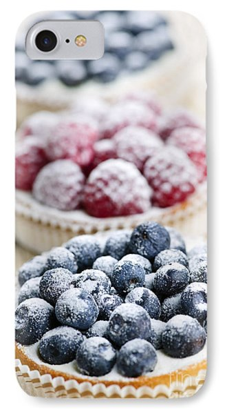 Raspberry iPhone 7 Case - Fresh Berry Tarts by Elena Elisseeva