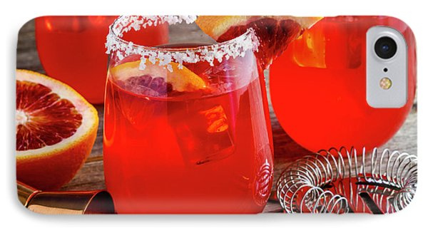 IPhone Case featuring the photograph Fresh Blood Orange Margaritas by Teri Virbickis