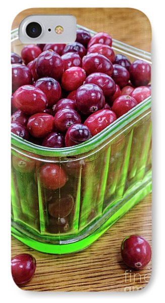 Fresh Cape Cod Cranberries IPhone Case by Edward Fielding