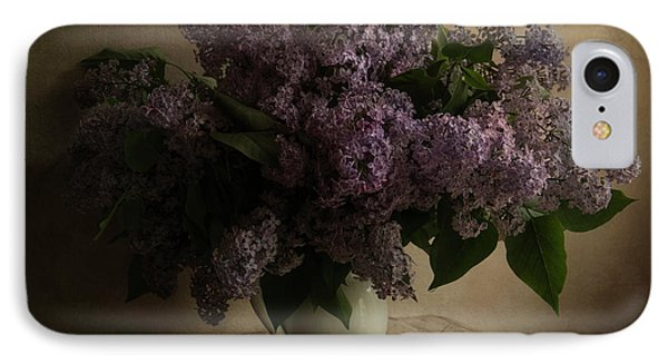 Fresh Lilac In White Pot IPhone Case