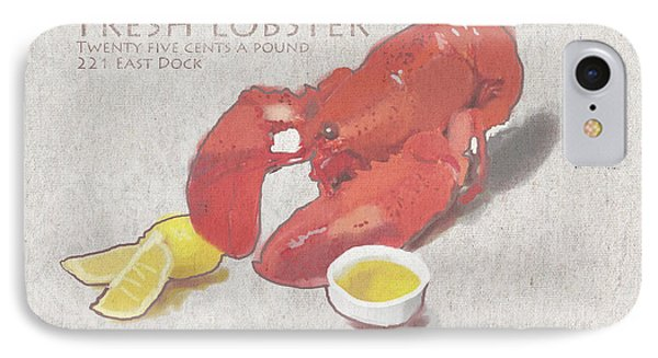 Fresh Lobster Sign IPhone Case