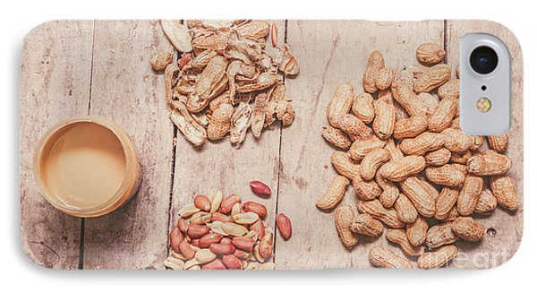 Fresh Peanuts, Shells, Raw Nuts And Peanut Butter IPhone Case by Jorgo Photography - Wall Art Gallery