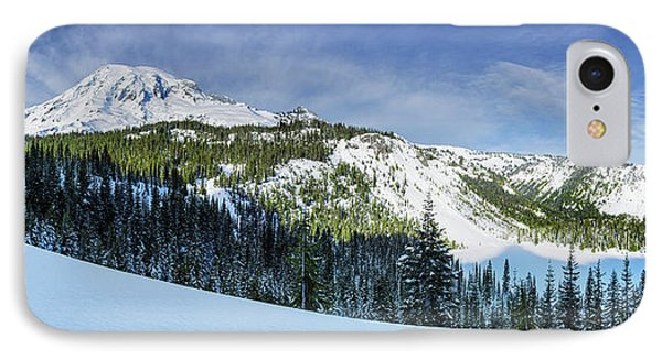 IPhone Case featuring the photograph Fresh Snow At Mount Rainier by Dan Mihai