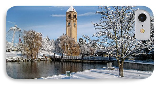 Fresh Snow In Riverfront Park - Spokane Washington Phone Case by Daniel Hagerman