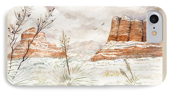 Fresh Snow On Bell Rock IPhone Case by Marilyn Smith